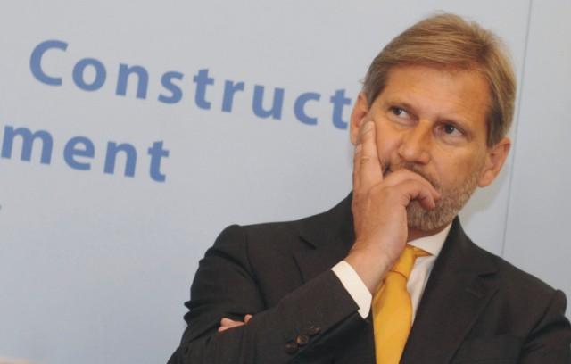 Na snímke európsky komisár pre regionálnu politiku Johannes Hahn