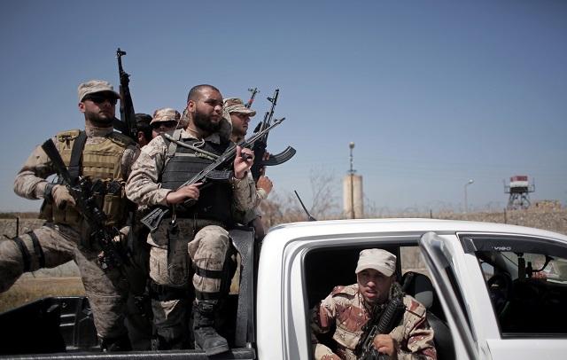 Príslušníci bezpečnostných síl palestínskeho hnutia Hamas