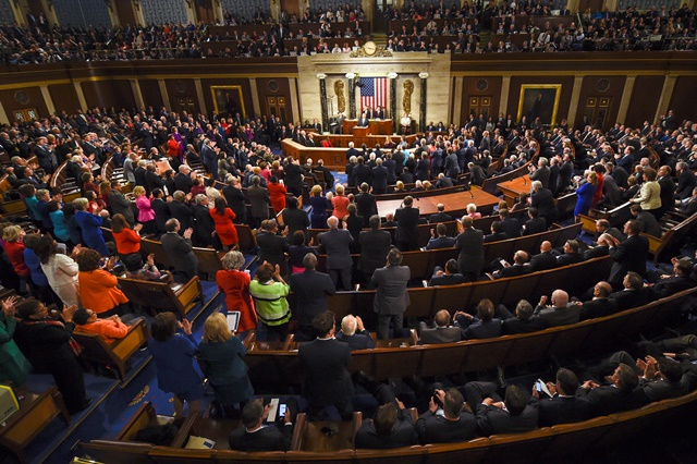 Na snímke členovia Kongresu
