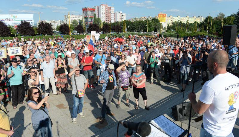 Ostrý protest Košičanov