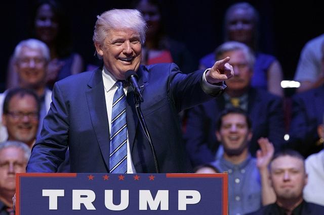 Americký republikánsky prezidentský kandidát Donald Trump