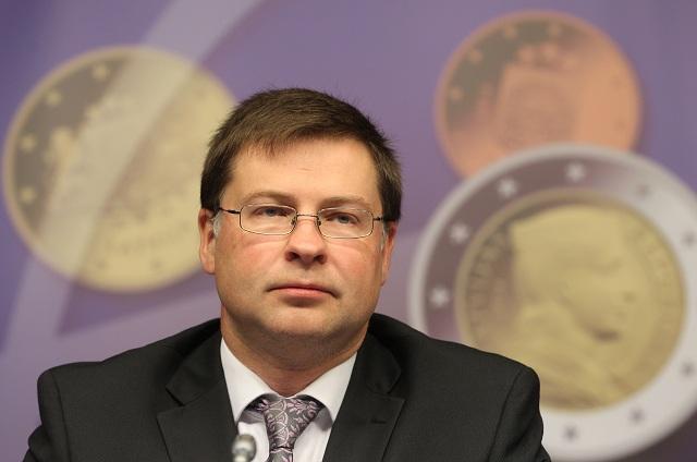 Na archívnej snímke podpredseda Európskej komisie (EK) pre euro Valdis Dombrovskis