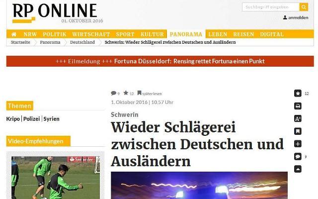 Ako uvádza Rheinische Post asi 30 Nemcov napadli 10 prisťahovalcov