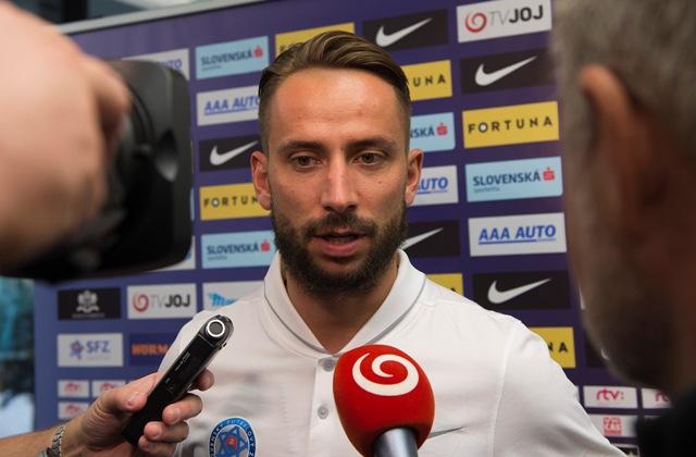 Na snímke slovenský futbalový reprezentant Dušan Švento