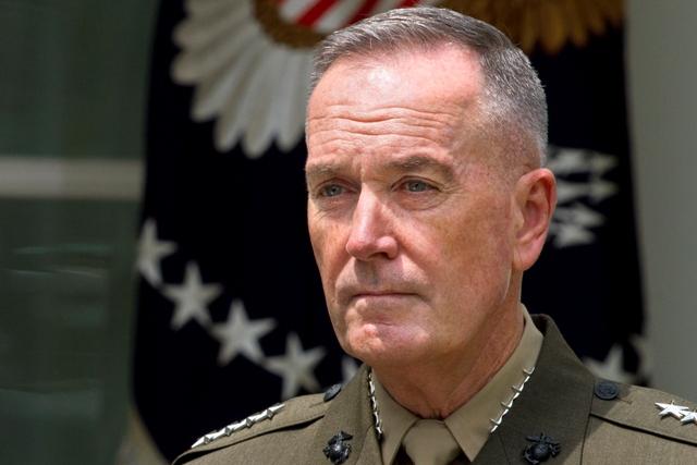 Na snímke veliteľ amerických ozbrojených síl, generál Joseph Dunford Jr.