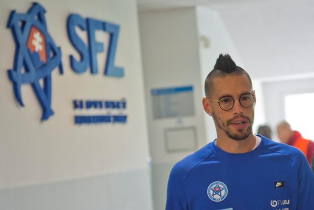Na snímke hráč slovenskej futbalovej reprezentácie Marek Hamšík