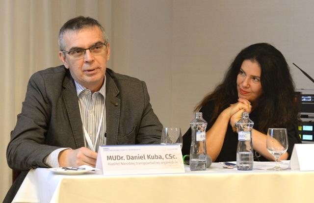 Na snímke riaditeľ Národnej transplantačnej organizácie Daniel Kuba a Iveta Malachovská