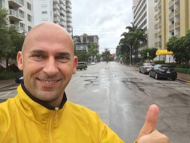 Laco Matyinko zo skupiny MADUAR natočil exkluzívne zábery z Miami Beach pár hodín pred príchodom hurikánu Matthew