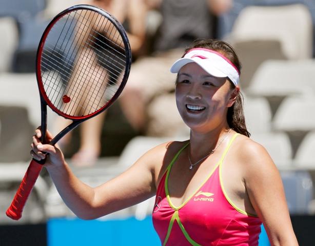 Na snímke čínska tenistka Šuaj Pcheng
