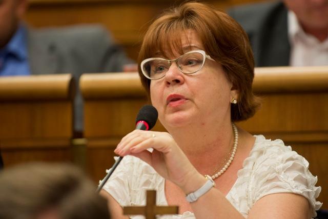 Na snímke poslankyňa Natália Grausová (Kotleba - Ľudová strana Naše Slovensko)