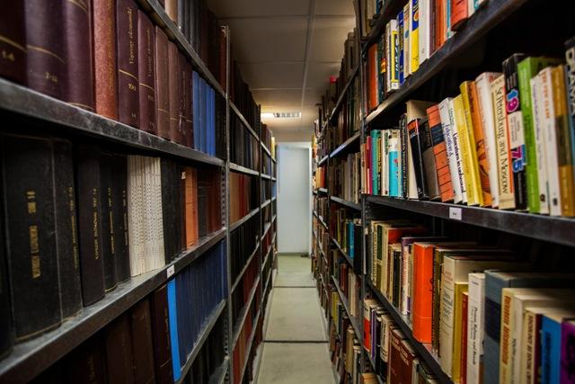 Na snímke zakázaná literatúra v priestoroch archívu Ústavu pamäti národa pri príležitosti Dňa otvorených dverí Ústavu pamäti národa