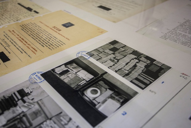 Na snímke ukážky dokumentov agentov Štátnej bezpečnosti v priestoroch archívu Ústavu pamäti národa pri príležitosti Dňa otvorených dverí Ústavu pamäti národa