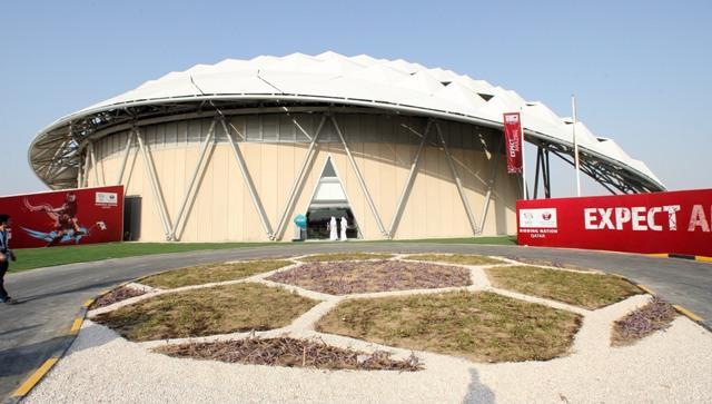 Na  archívnej snímke zo 14. septembra 2014 je štadión pre futbalové MS 2022 v Katare