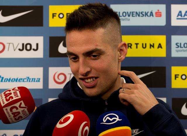 Na snímke slovenský futbalista Róbert Mak