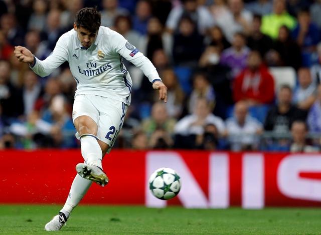 Na snímke hráč Realu Alvaro Morata
