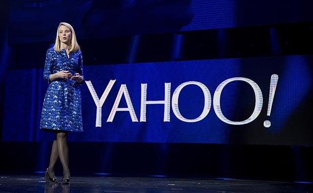 Na archívnej snímke výkonná riaditeľka spoločnosti Yahoo Marissa Mayerová