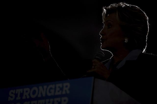 Na snímke demokratická kandidátka na prezidenta USA, Hillary Clintonová