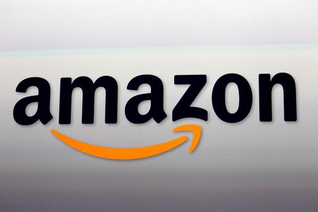 Na snímke logo internetového obchodu Amazon