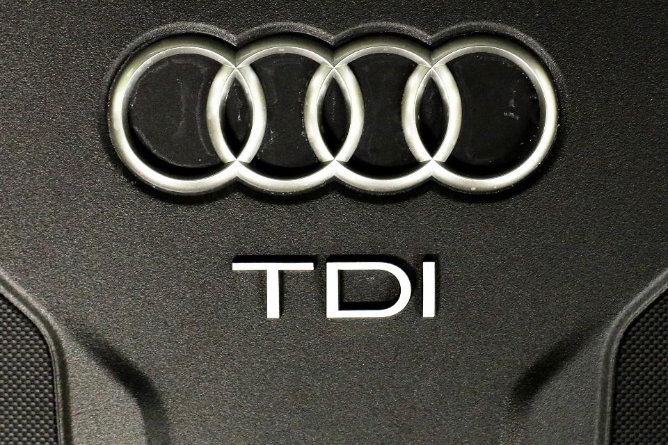 Na snímke znak automobilky Audi