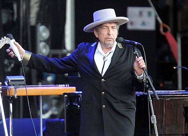 Na snímke Bob Dylan