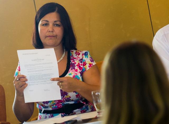 Na snímke predsedníčka Výboru NR SR pre ľudské práva Erika Jurinová