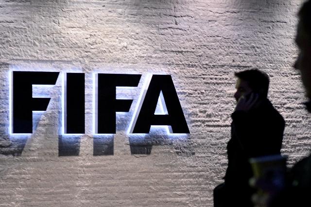 Na snímke logo Medzinárodnej futbalovej federácie