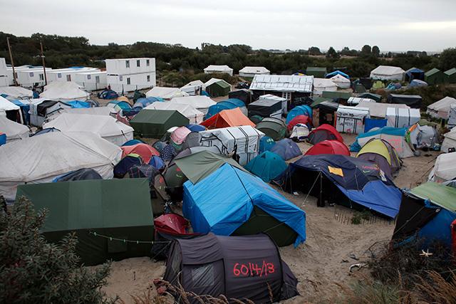 Ilustračné foto: Tábory v Calais pred zbúraním