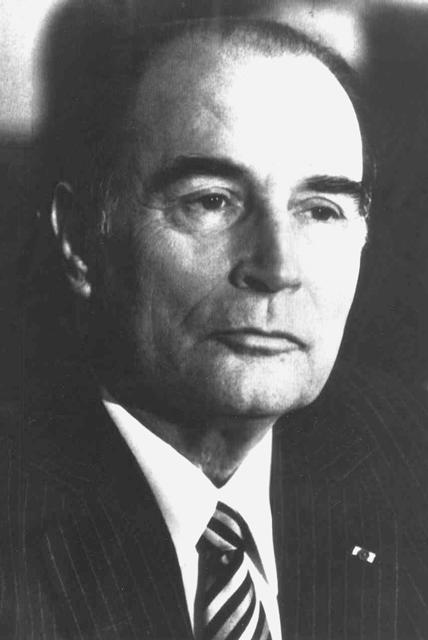 Na snímke Francois Mitterrand