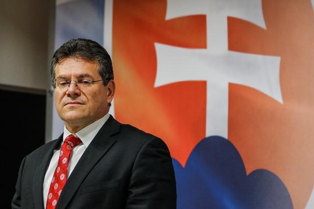 Na snímke slovenský eurokomisár a podpredseda Európskej komisie pre Energetickú úniu Maroš Šefčovič