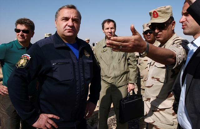 Na snímke minister pre mimoriadne situácie Vladimir Puchkov