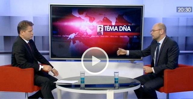 """Richard Sulík v relácii """"Téma dňa"""" televízie TA3"""