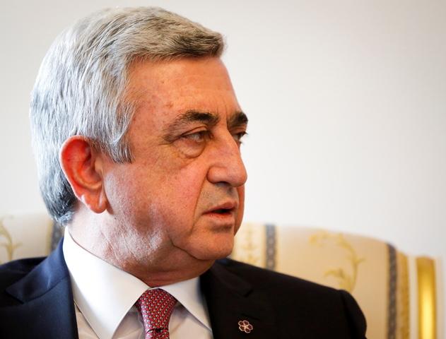 Na snímke arménsky prezident Serž Sargsjan