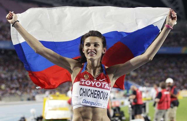 Ruská výškarka Anna Čičerovová