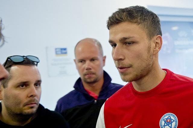 Na snímke hráč slovenskej futbalovej reprezentácie Filip Kiss
