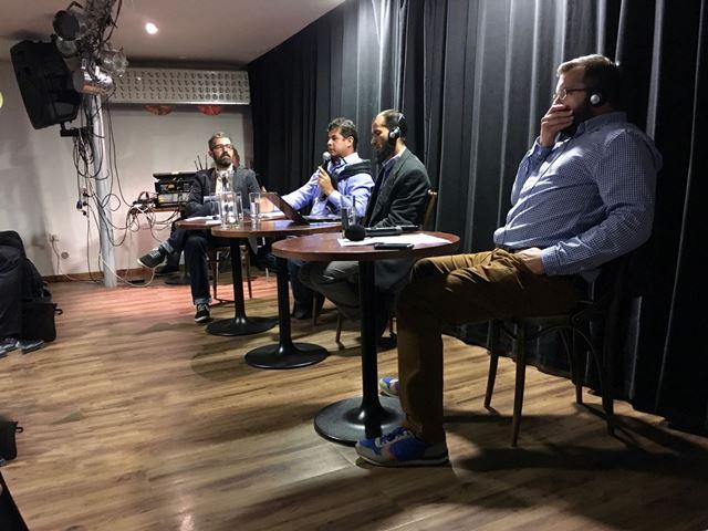 Na snímke zľava komentátor Laco Oravec, Mohammed Azim Farhadi, Ahmed Seddeeq a Márton Bisztra