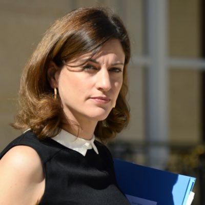 Na snímke štátna tajomníčka pre pomoc obetiam Juliette Méadelová