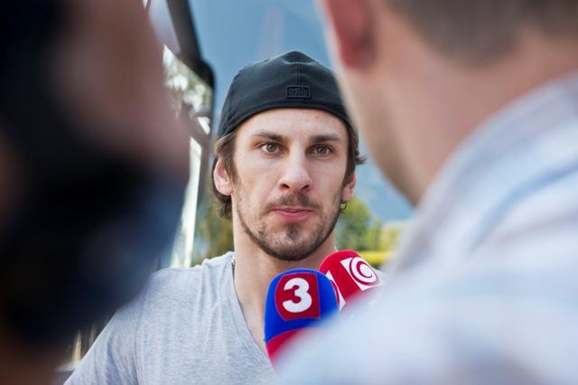 Na snímke hokejista Marek Hrivík