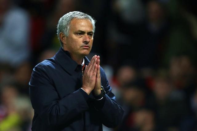 Na snímke tréner Manchestru United Jose Mourinho