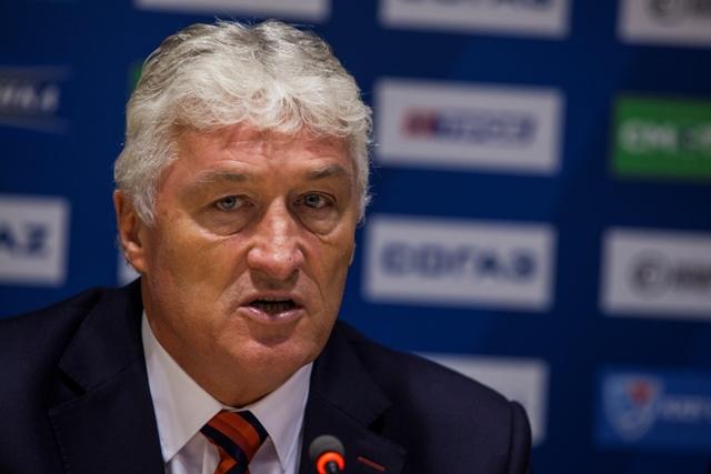 Na snímke tréner mužstva Slovan Bratislava Miloš Říha