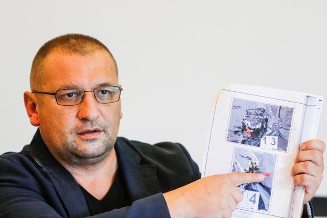 Na snímke aktivista Ivan Katrinec