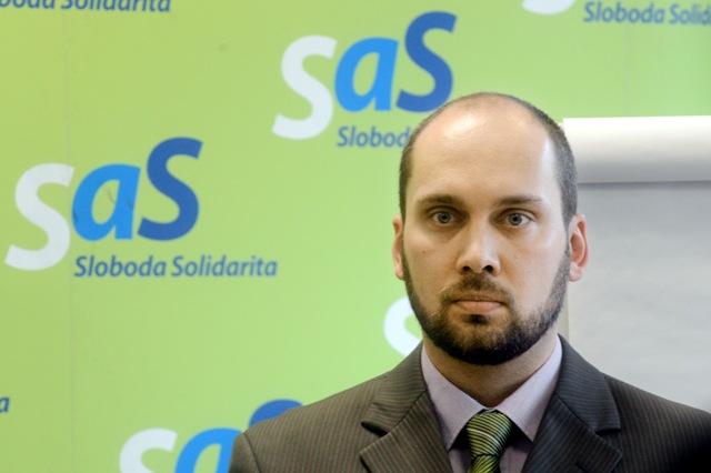 Na snímke poslanec Národnej rady SR za stranu SaS Karol Galek
