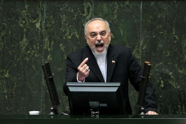 Na snímke šéf iránskej jadrovej agentúry Alí Akbar Salehí