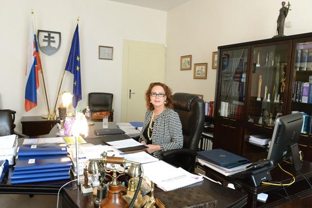 Na snímke predsedníčka ÚS SR Ivetta Macejková