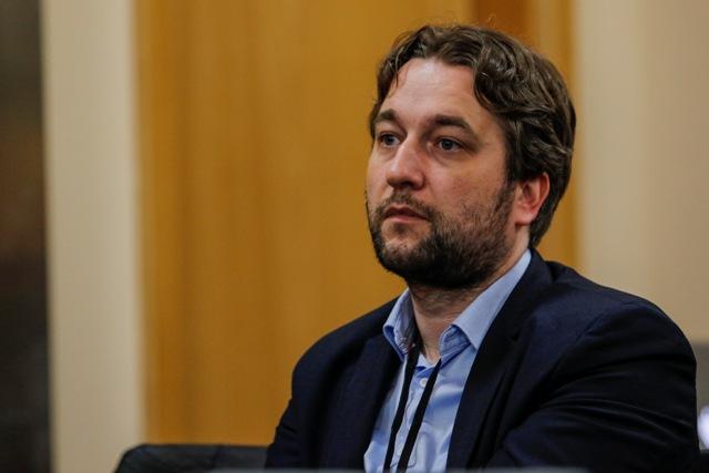 Na snímke predseda Výboru Národnej rady SR pre európske záležitosti Ľuboš Blaha (Smer-SD)
