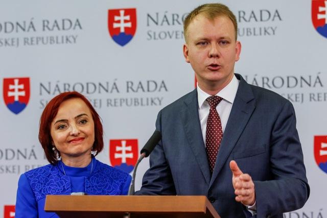 Na snímke Katarína Macháčková a Miroslav Beblavý