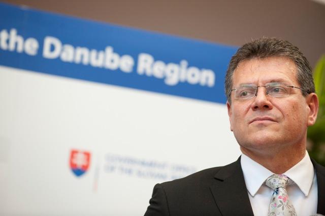 Na snímke podpredseda Európskej komisie (EK) pre Energetickú úniu Maroš Šefčovič
