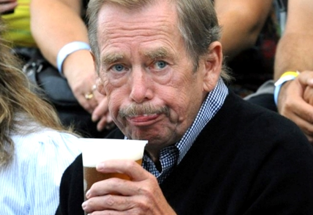 Václav Havel v hradnej pivárni