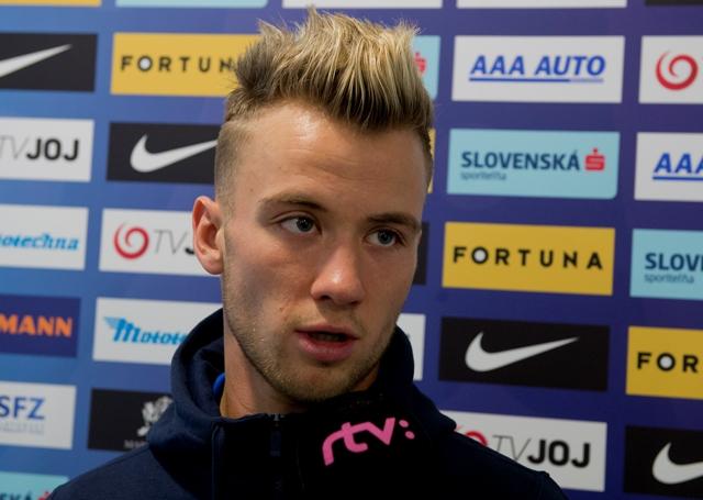 Na snímke slovenský futbalový reprezentant Albert Rusnák