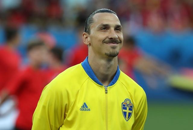 Na snímke švédsky útočník Zlatan Ibrahimovič
