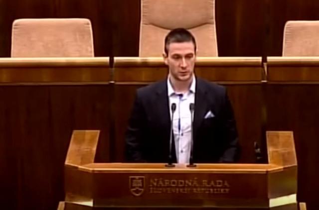 Na snímke poslanec Milan Uhrík (ĽSNS)